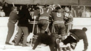 Seconds after USA beat Canada in 1960
