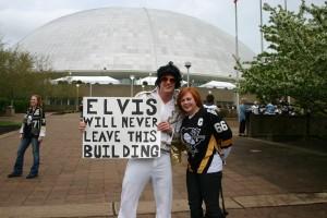 Elvis and Mrs. Jean Pronovost