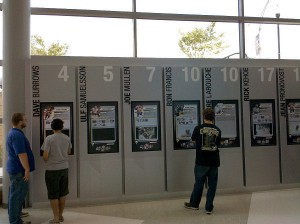 Here the fans can relive some of the great history of the Penguins using touchscreen monitors.
