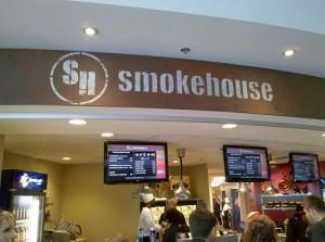 The Smokehouse: There were actually tables nearby where fans can eat.
