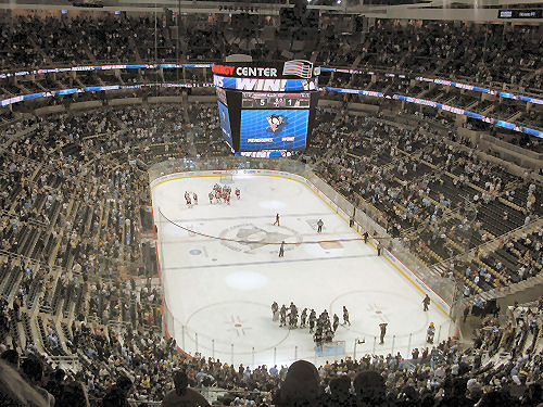 1st Game Consol Energy Center