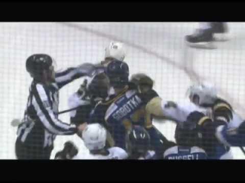 Video: Sobotka Sucker Punches Sullivan (Blues & Penguins)