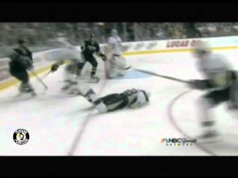 Video:  Kris Letang gets hit by Dallas Stars Eric Nystrom