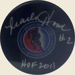 Mark Howe Autographed Puck